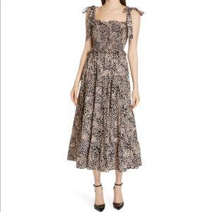 Rebecca Taylor Leopard Smocked Dress